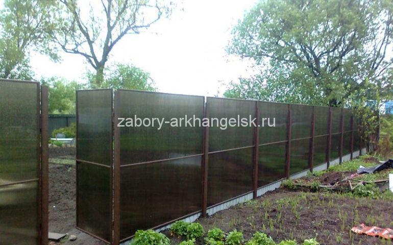изготовление заборов из поликарбоната в Архангельске