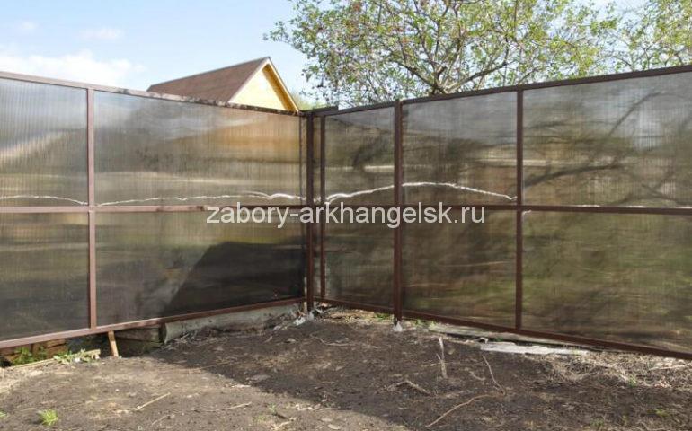 забор из поликарбоната в Архангельске