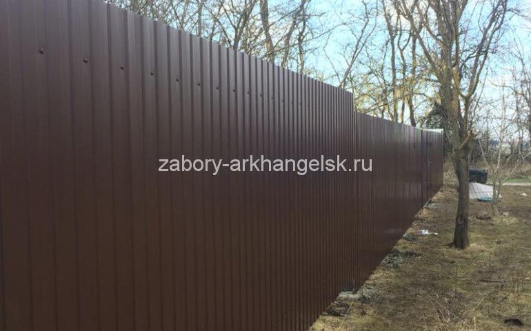 забор из профлиста в Архангельске